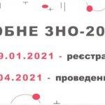 РЕЄСТРАЦІЯ НА ПРОБНЕ ЗНО 2021